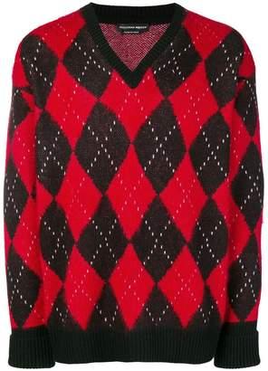 Alexander McQueen argyle knit sweater