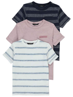 George Striped T-Shirt 3 Pack