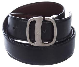 Salvatore Ferragamo Leather Peg-In-Hole Belt