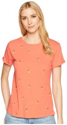 Lucky Brand All Over Printed Pineapple Tee Women's T Shirt