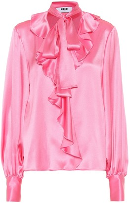 febb5ab32f Pink Satin Top - ShopStyle UK