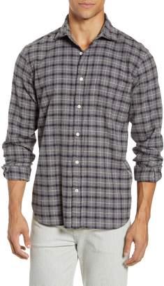Hartford Paul Regular Fit Plaid Button-Up Flannel Shirt