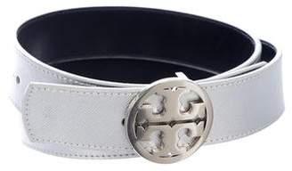 Tory Burch Metallic Logo Belt