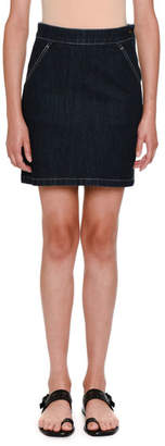 Tomas Maier High-Waist Denim Skirt
