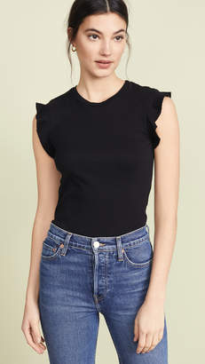 Three Dots Heritage Ruffle Sleeve Tee