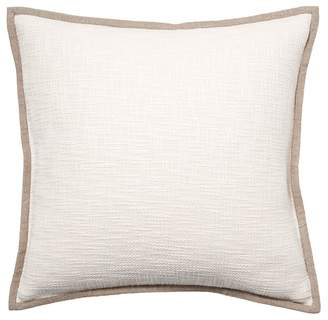 Pottery Barn Cotton Basketweave Pillow Cover - Ivory