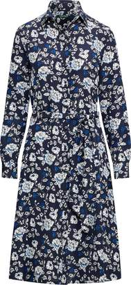 Ralph Lauren Print Crepe Shirtdress