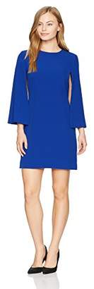 Tahari by Arthur S. Levine Women's Petite Size Round Neck Shift Dress with Split Sleeves