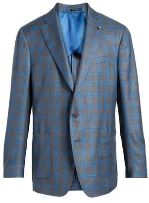 Peter Millar COLLECTION Marina Windowpane Wool & Silk Blend Sport Coat