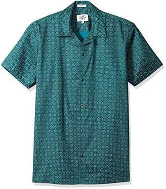 Casual Terrains Men's Classic-Fit Short-Sleeve Printed Camp Collar Shirt .