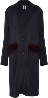 Santoni Edited by Marco Zanini Wool Coat with Mink Pockets