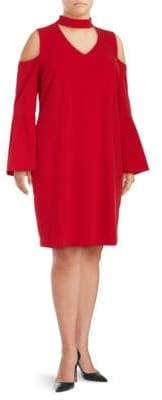 Vince Camuto Plus Cold-Shoulder Shift Dress