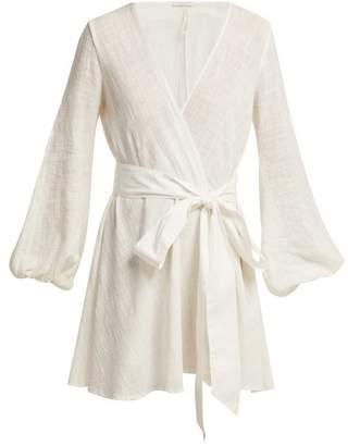 Kalita - Gaia Tie Waist Cotton Dress - Womens - White