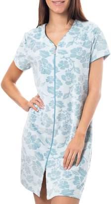 Jasmine Rose Floral Full-Zip Robe