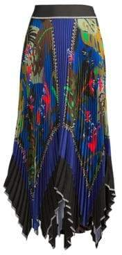 Beatrice. B Women's Printed Pleated Skirt - Blue Medio - Size 50 (12)