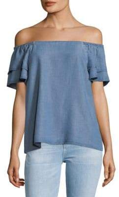 Catherine Malandrino Rochelle Chambray Top