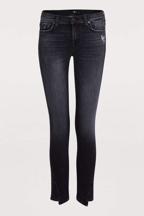 Twisted cropped skinny jeans