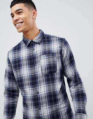 Jack and Jones Originals brushed check shirt in slim fit