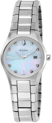 Bulova Women's 96P108 Mother of Pearl Dial 8 Diamonds Bracelet Watch
