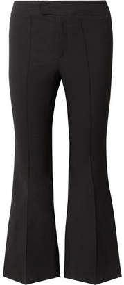 Isabel Marant Nyree Cropped Cotton-blend Flared Pants - Black
