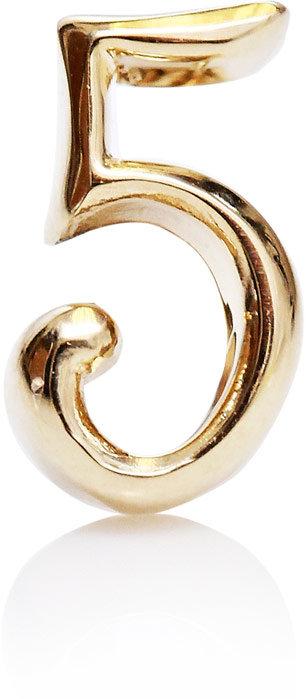 Lulu Frost Code 14ct gold #5 earring