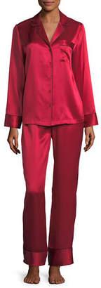 Neiman Marcus Silk Satin Two-Piece Pajama Set