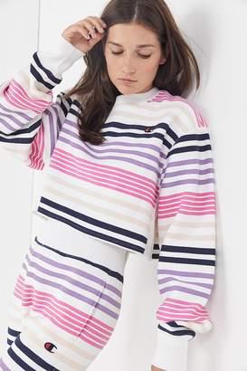 Champion & UO Striped Cropped Sweatshirt