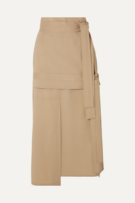 3.1 Phillip Lim Belted Wool-blend Midi Skirt - Beige