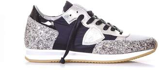 Philippe Model Tropez Ld Basic Platinum Sneakers In Leather