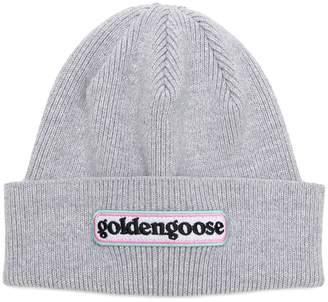 Golden Goose logo beanie hat