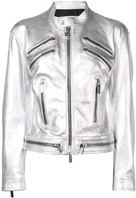 DSQUARED2 metallic biker jacket