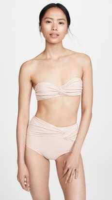 f566f49cb8b Jonathan Simkhai Metallic Front Twist Bikini Top