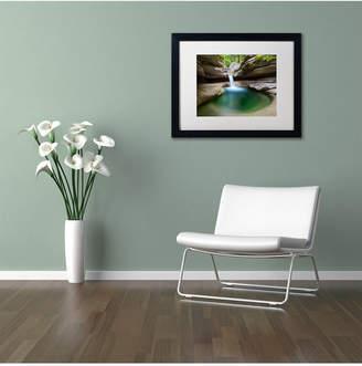 Pool' Trademark Global Michael Blanchette Photography 'Sabbaday Green Matted Framed Art