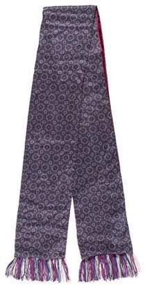 Etro Silk Paisley Velvet-Lined Scarf