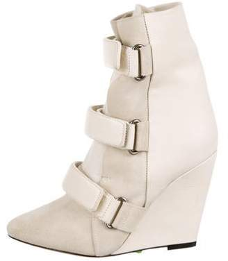 Isabel Marant Pierce Leather Wedge Boots