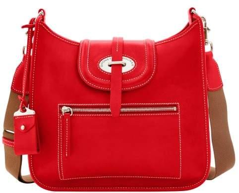 Dooney & Bourke Florentine Toscana Front Zip Crossbody Shoulder Bag - RED - STYLE