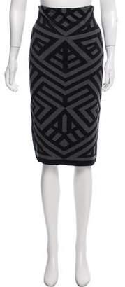 RVN Knee-Length Asymmetrical Patterned Skirt