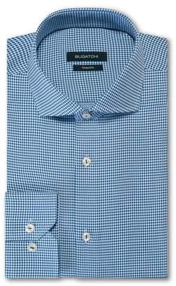 Bugatchi Trim Fit Houndstooth Dress Shirt