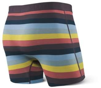 Saxx UNDERWEAR Men's Ultra Tri-Blend Boxer Fly Dark Charcoal Heather Underwear