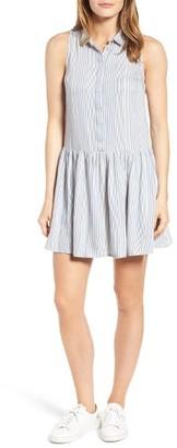 Women's Rd Style Stripe Drop Waist Shirtdress $68 thestylecure.com
