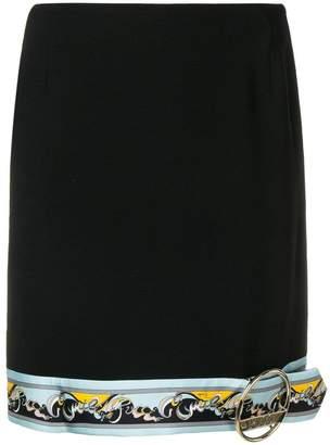 Emilio Pucci contrast hem mini skirt