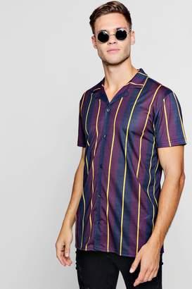 boohoo Block Stripe Short Sleeve Jersey Shirt