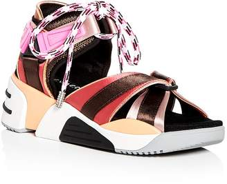 Marc Jacobs Women's Somewhere Satin Platform Wedge Sport Sandals