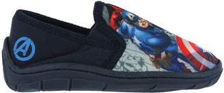 Marvel Boys Avengers Slippers Navy Iron Man Thor Captain America Size 12