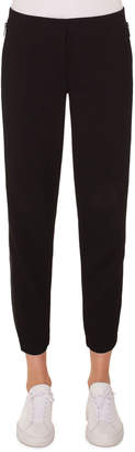Akris Punto Milla High-Waist Straight-Leg Ankle Wool Pants