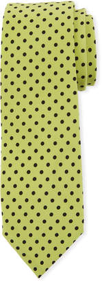 Dolce & Gabbana Polka-Dot Silk Tie, Green/Black