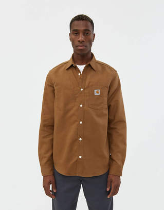 Carhartt Wip Tony Canvas Shirt in Hamilton Brown