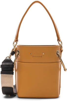 Chloé Small Roy Calfskin Bucket Bag in Burning Camel | FWRD