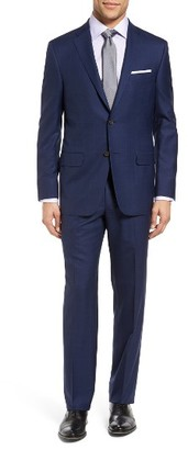 Men's Hickey Freeman Beacon Classic Fit Plaid Wool Suit $1,995 thestylecure.com