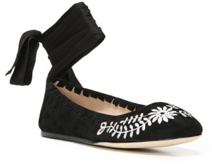 Women's Via Spiga Baylie Tie Ballet Flat $150 thestylecure.com